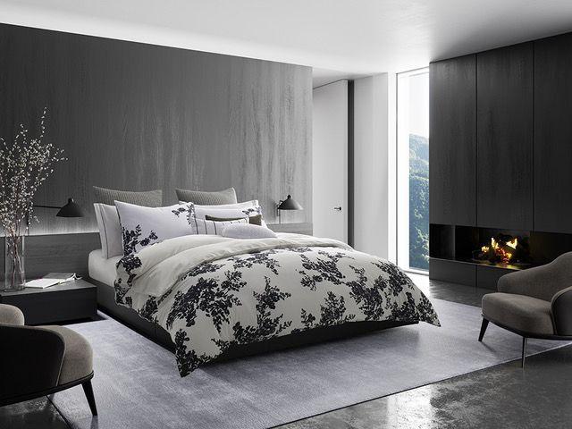 Vera Wang Ink Botanical Bedding Luxury Bedding Comforter Sets Bedding Sets
