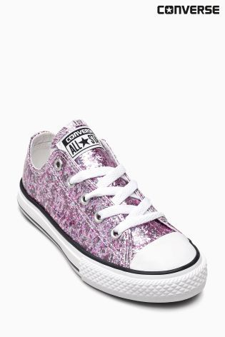 Buy Converse Pink Glitter Chuck Taylor Lo from the Next UK online shop | @giftryapp