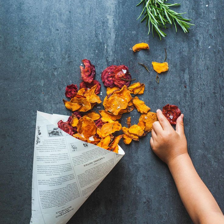 Sweet Potato and Red Beet Chips — Madeline Lu