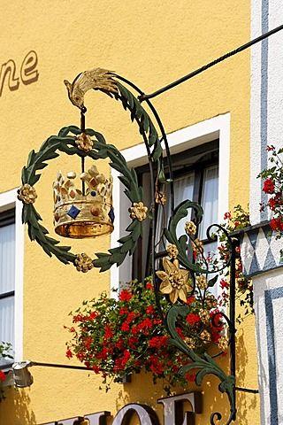 Inn signo de la corona en Beilngries Alta Baviera Alemania