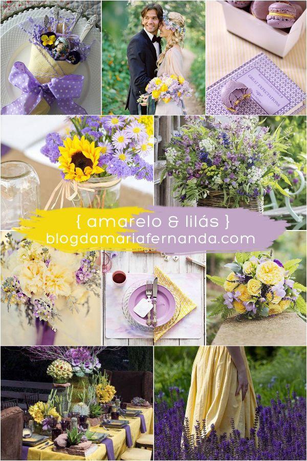 Decoração de Casamento : Paleta de Cores Amarelo e Lilás | http://blogdamariafernanda.com/decoracao-de-casamento-paleta-de-cores-amarelo-e-lilas
