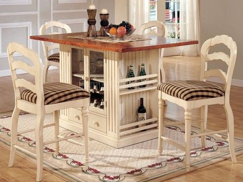 Small Kitchen Island with Seating and Storage