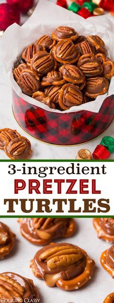 Pretzel Turtles (3 Ingredients) - They'll become a yearly tradition! Easy and perfect for parties.