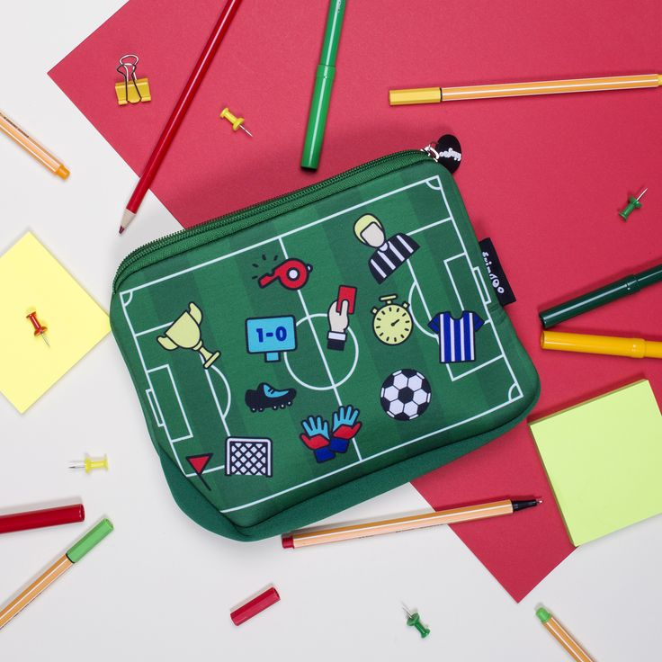 Football pencil case, unique school accessory for boys and girls. Perfect present for back to school.