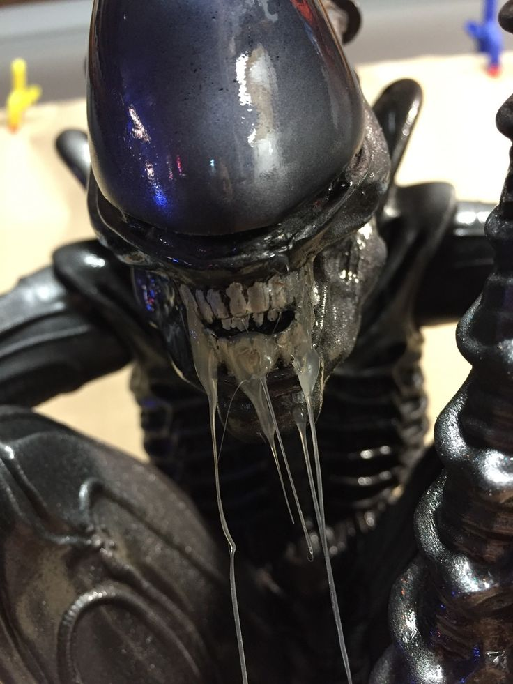 MOTY 2017 Entry Alien Xenomorph Here is a 1:4 scale crouching Alien xenomorph.  This is a very large resin kit inspired by the original movie and created by a garage kit producer. It measures 15 inches in height and 19 inches in arm span.  It was painted using mostly Alclad metallics and high g