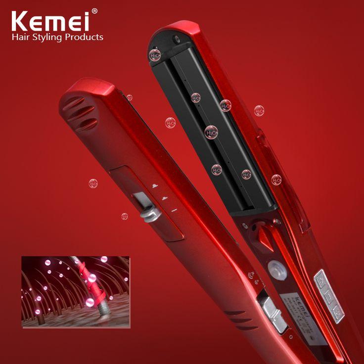 Kemei3011 dry iron hair straighteners Professional Hairstyling Portable Ceramic Hair Straightener Irons Styling Tools