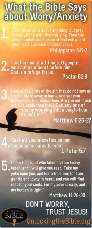 what the Bible says about worry/anxiety...this was posted at the perfect time