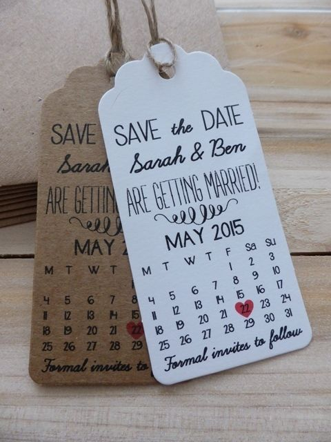 Save The Date Card Wedding Invitation with Envelopes Personalised RSVP Calendar
