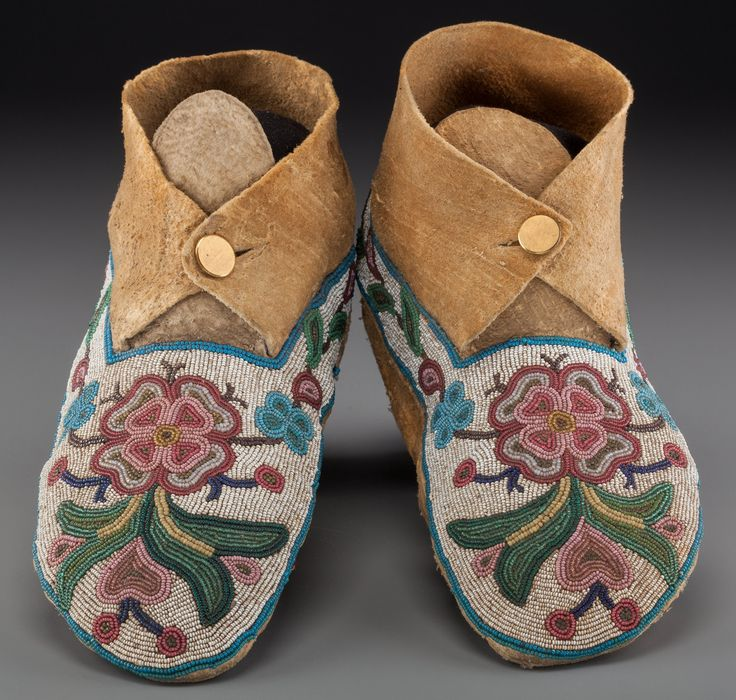 Cree beaded moccasins, ca. 1890
