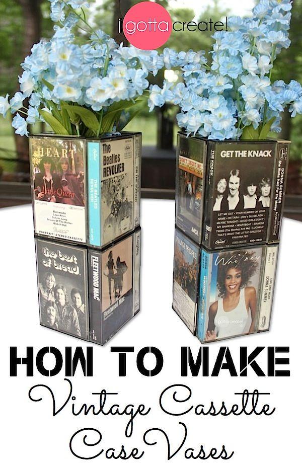 Love Cassette Case Vase Tutorial Great Conversation Centerpiece