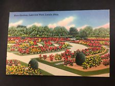 22 best vintage usa postcards images on pinterest vtg postcard oh lorain rose gardens in lakeview park linen unposted made in usa fandeluxe Image collections