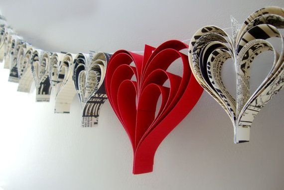 Heart garland banner by PaperPolaroid on Etsy, $38.00