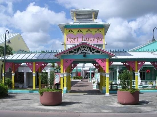 Port Lucaya Marketplace, is across the street from the Grand Lucayan Resort in Freeport, Bahamas.