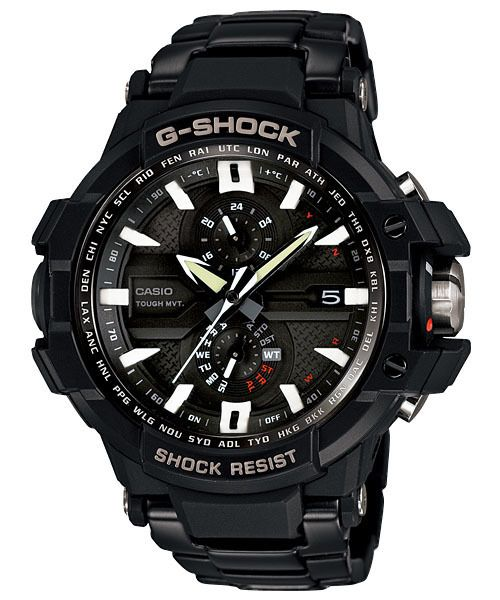 2013 CASIO BLACK STEEL ATOMIC G-SHOCK WAVE CEPTOR SOLAR 660f WATCH!