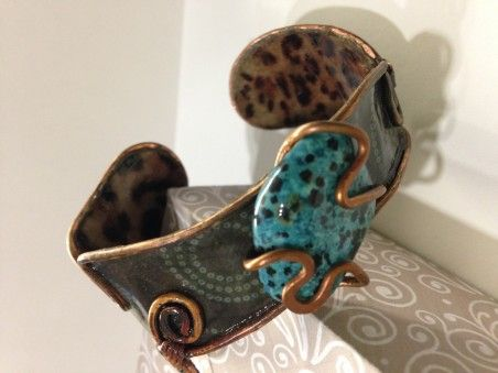 Scrapbook Paper Jewelry by Ginger Jones  - featured on Jewelry Making Journal