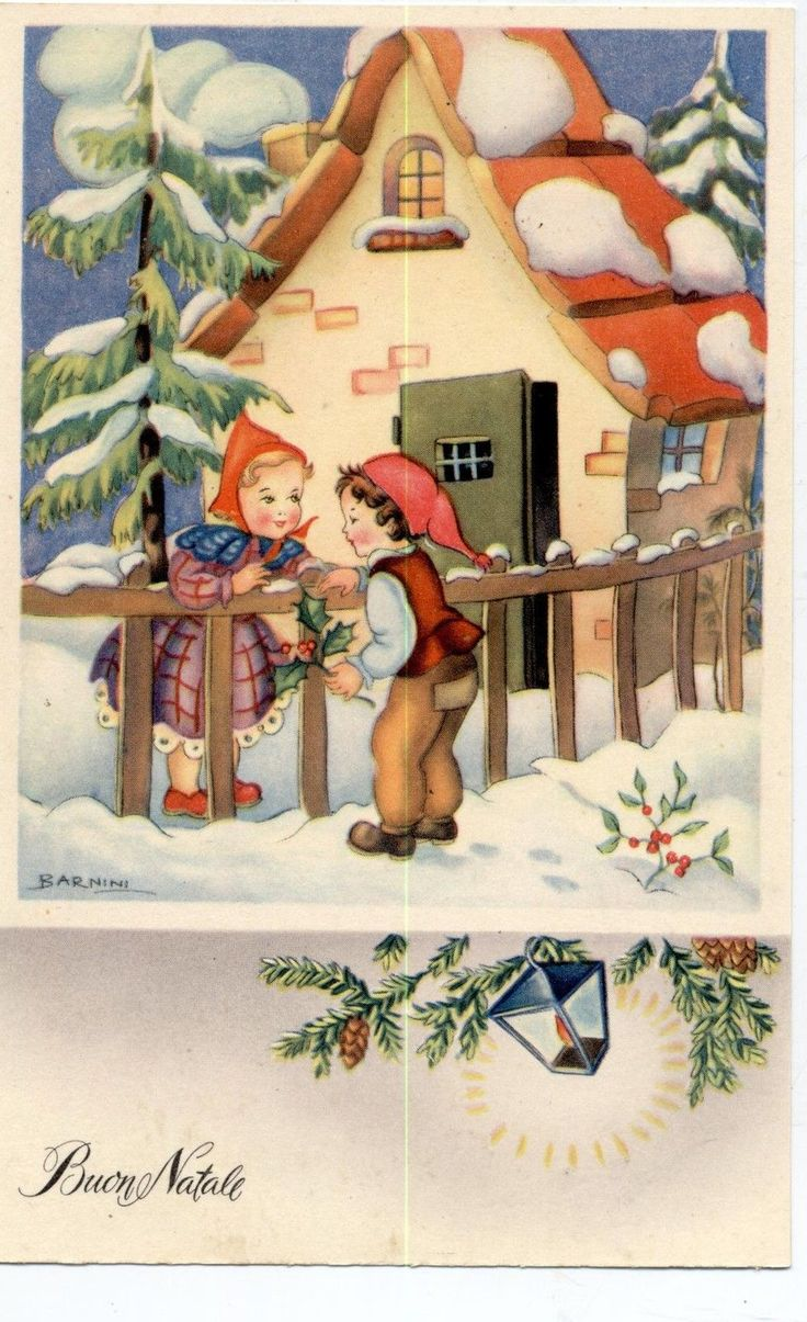 69 best vintage christmas in italy images on pinterest christmas vintage italian postcard by barnini c1940 ebay kristyandbryce Images