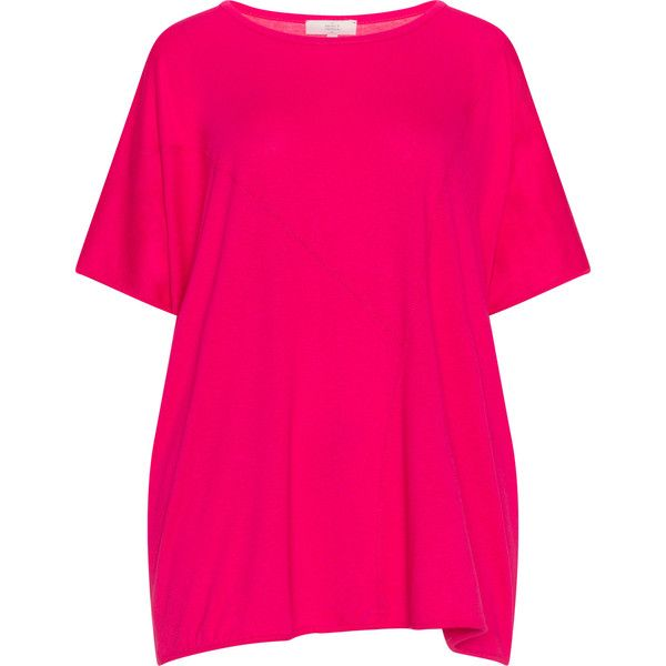 Amber and Vanilla Pink Plus Size Oversized batwing t-shirt ($60) ❤ liked on Polyvore featuring tops, t-shirts, pink, plus size, plus size tees, stretch t shirt, plus size tops, pink plus size tops and pink top