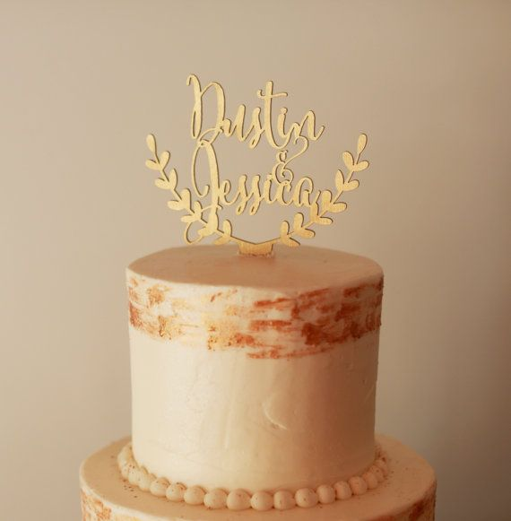 Personalized cake topper, custom wedding cake topper, rustic wedding cake topper, names cake topper