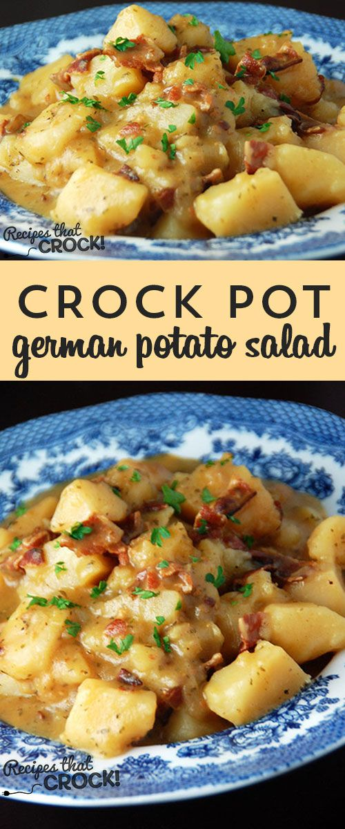 Delicious German Potato Salad recipe for you crock pot!