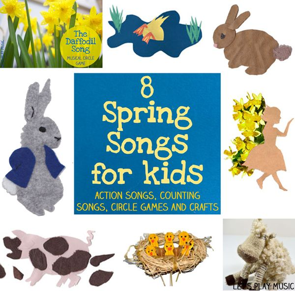 Spring action, counting, circle songs and crafts for children #musiced vía @letsplaymusic
