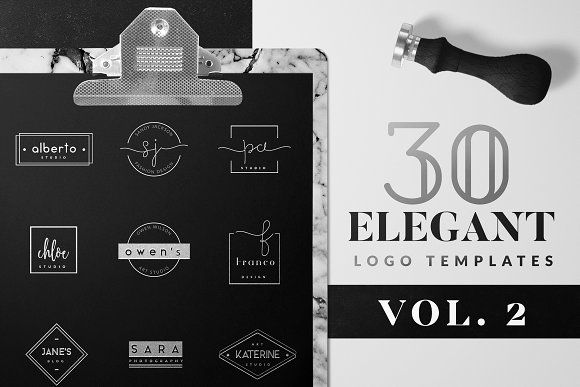 Elegant Logo Pack VOL 2 by Graphic Dash on @creativemarket
