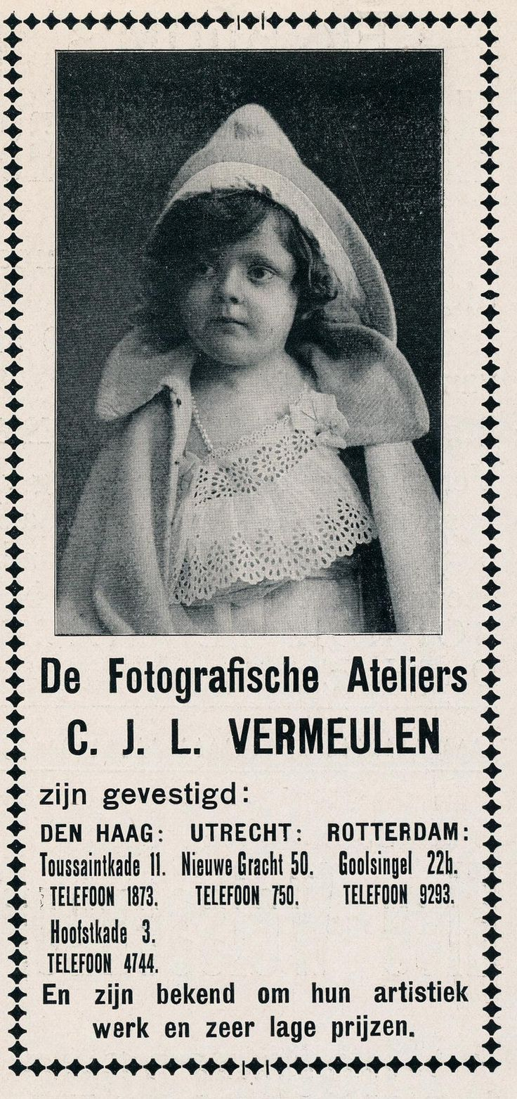 adv fotograaf CJL vermeulen 1915
