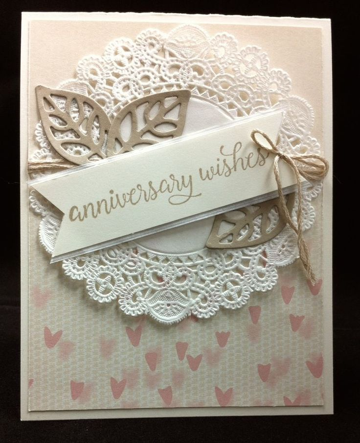 Handmade Stampin' Up Wedding Anniversary Card - Combined Shipping | Crafts, Handcrafted & Finished Pieces, Greeting Cards & Gift Tags | eBay!