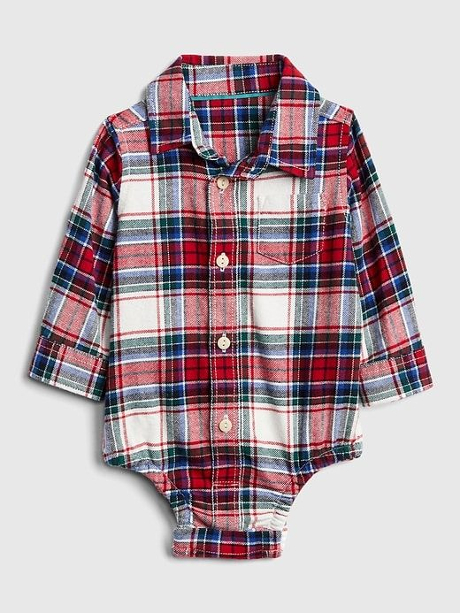 19409ea4a Flannel Long Sleeve Bodysuit | oliver | Long sleeve bodysuit, Girls ...