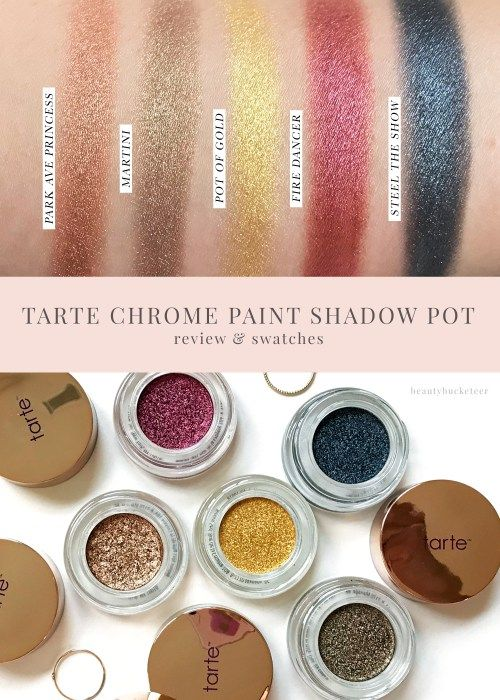 Tarte Chrome Paint Shadow Pot Review and Swatches - Beauty