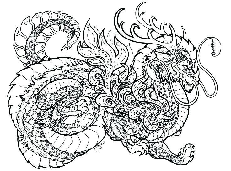 Dragon Coloring Pages Di 2020 Buku Mewarnai Mandala Naga