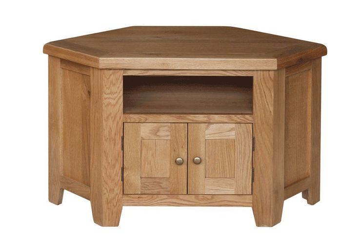 New Sussex Oak Wooden Corner TV Unit Television Stand Living Room Furniture