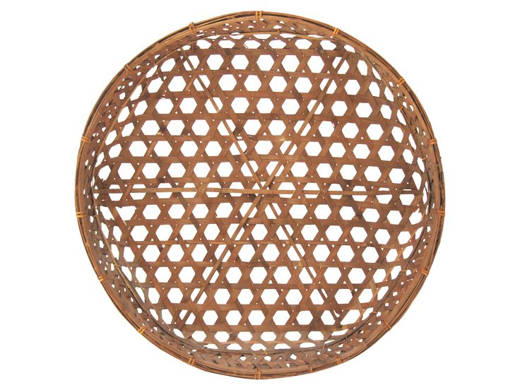 Wonderful large scale Asian basket, perfect as a centerpiece or as a wall…