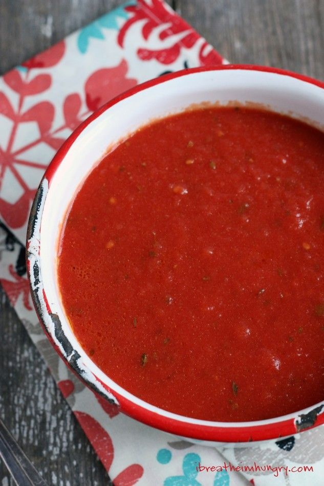 This Easy Keto Marinara Sauce Recipe is both low carb and gluten free - from ibreatheimhungry.com