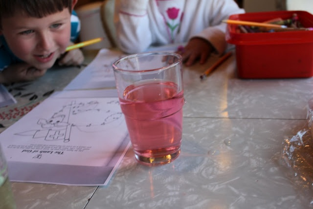 Teach children how Christ helps us overcome sin...a neat experiment with instant results...only requires water, food coloring, and bleach.