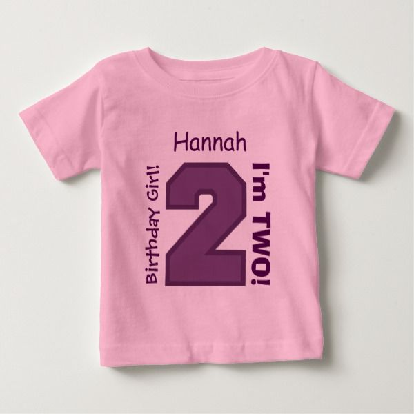 2nd BABY Birthday Big Sports Number A15 PURPLE Baby T Shirt Kidsclothing Tshirts Age Twoyearold Toddlers Shirts