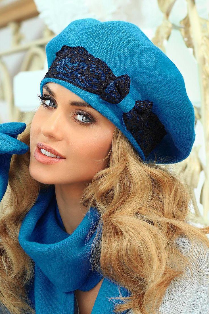 Piękny beret Kamea Emanuela. Cudne zestawienie kolorów. Zobacz więcej kolorów - klikając w zdjęcie :)    kontri.pl   #Kamea #czapka #beret #kontri #stylowe