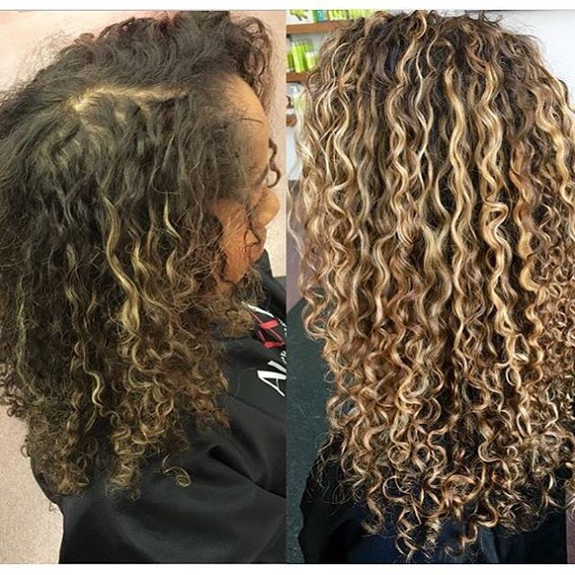@rachael_devacurl colored and styled @la.la24 curls. Used redken 515 to lighten the hair & To cleanse: @mydevacurl Noo-poo + One Conditioner & Ultra Defining gel ! #curlynatural