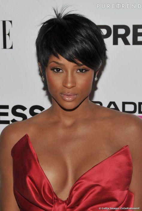 Idées de coiffure afro pour cheveux courts   Coupe de cheveux courte, Cheveux courts et Coupe de ...