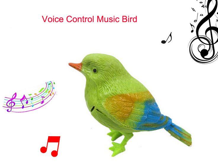 9.5cm Simulation sounding bird Voice Control Music Bird Cute Sing bird toy Electronic pets Song Morning bird Cage decorations