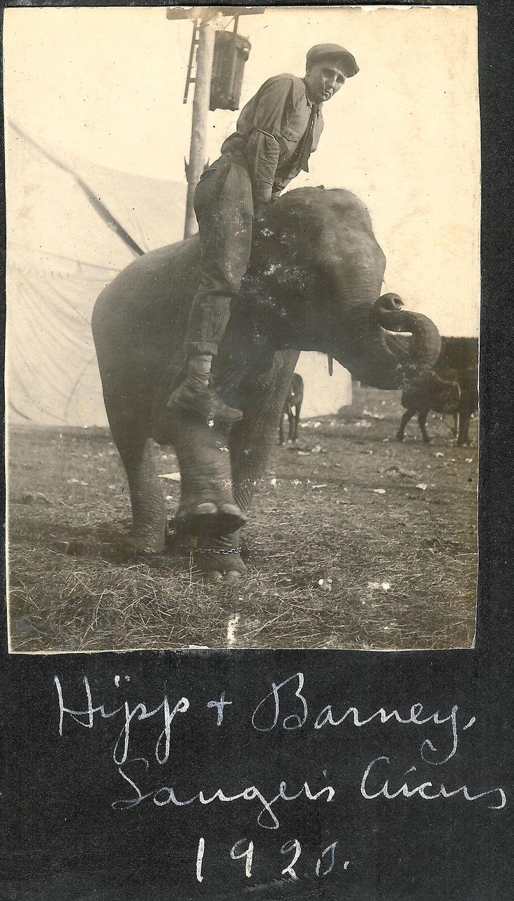 Hipp and Barney - Sanger Circus - 1920