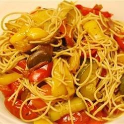 Tangy balsamic vinegar tossed with pasta and vegetables make this vegetarian pasta tantalize your taste buds!