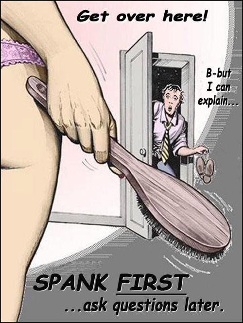Spank art cartoons