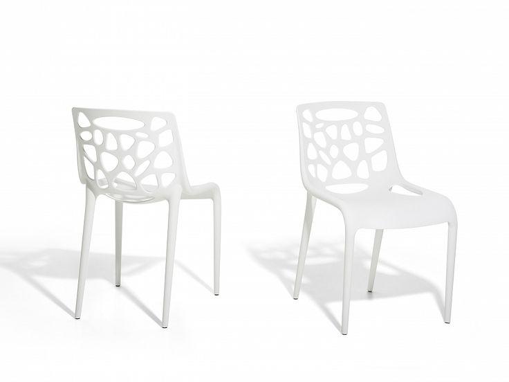 Cadeira branca - Interior e exterior - Plástico - MORGAN