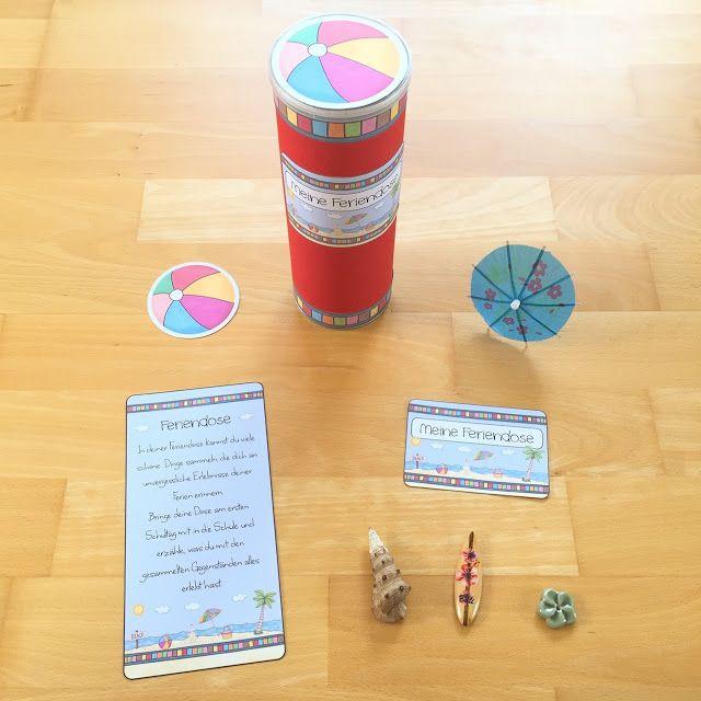 Materialwiese: Feriendose für die Sommerferien