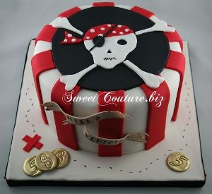 Pirate Cake Skull- I like the style of the cake but want a different skull on top.