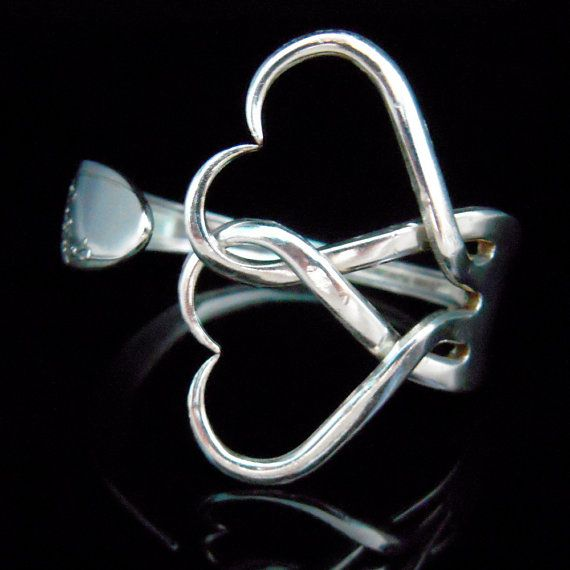 Fork Bracelet in Intertwining Hearts Design Number by MarchelloArt, $29.99