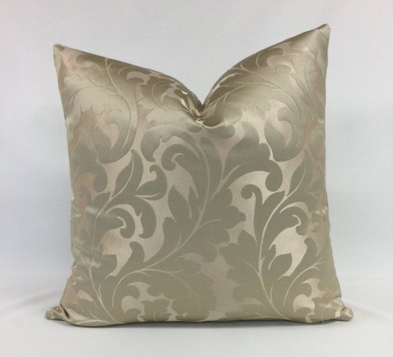Pillow Cover Gold Acanthus Leaf Design by CasaBellaDesignsCo
