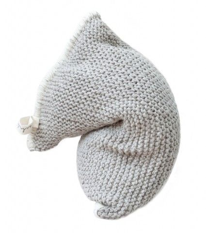 Nest (grey) > http://zilalila.com/shop/nest-grey #Zilalila #Nest #Wool #Knitted #Chunky #Fine #Kids #Label #Interior #Nepal #Fairtrade #Friendly #Conscious #Beanbag #Eco #Children #Grey #White #Brown