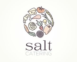Puzzle pattern logo design: Salt Catering