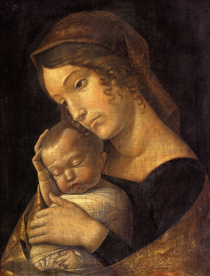 Andrea Mantegna ~ Madonna with Sleeping Child, c.1465-70